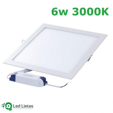 LED iebūvējamais panelis 6W...