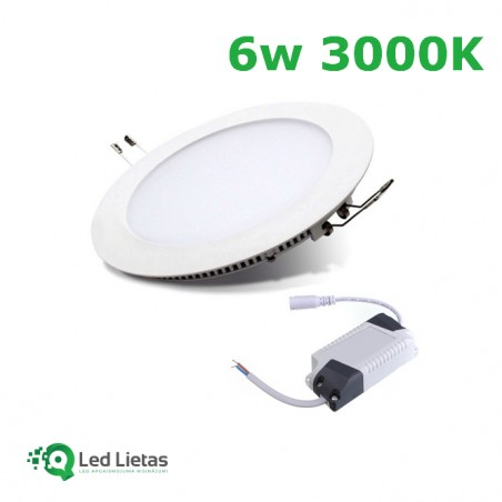 LED Built-in Panel 6W Round...