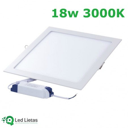 LED recessed panel 18W...