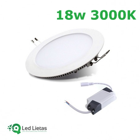 18W (1500Lm) LED Built-in...