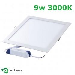 LED iebūvējamais panelis 9W...