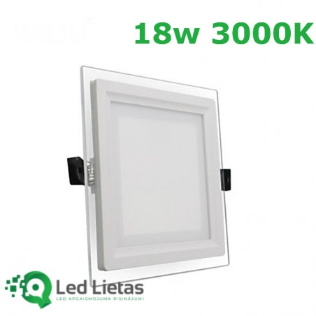 LED recessed panel 18W with...