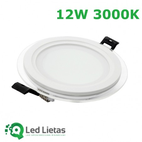 LED recessed panel 12W with...