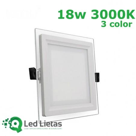 LED recessed panel 18W,...
