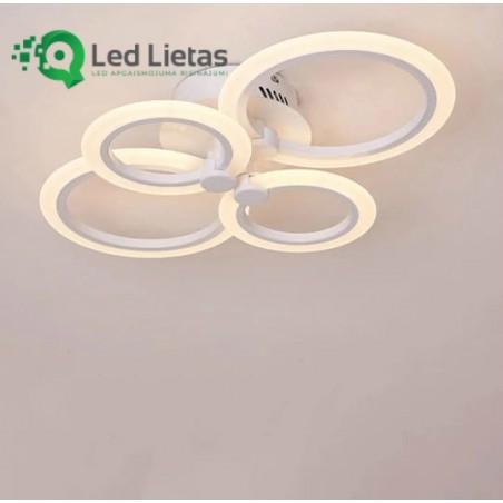 LED griestu lustra ar četriem riņķiem