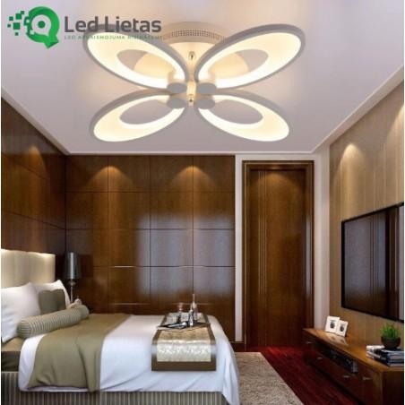 LED griestu lampa ar četriem ovāliem katrs uz savu pusi
