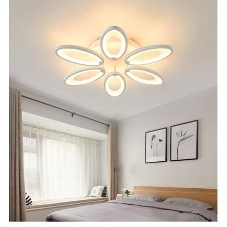 LED girestu lampa ar sešiem ovāliem katrs uz savu pusi kā zieds